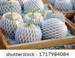 Fresh Ripe Melons Or Cantaloupe ...