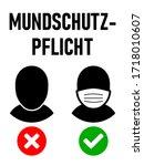 "mundschutzpflicht  ""wearing a...   Shutterstock .eps vector #1718010607"