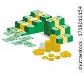 money is a medium of exchange... | Shutterstock .eps vector #1718013154