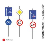 traffic signs | Shutterstock .eps vector #171802859