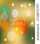 modern blurry smooth background.... | Shutterstock .eps vector #1718072797