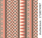 ethnic and tribal border pattern | Shutterstock .eps vector #1718074987