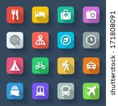set of flat icons about travel... | Shutterstock .eps vector #171808091