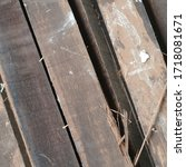 Old Wood Planks Broken And...