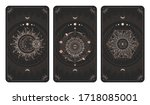 vector set of three dark...   Shutterstock .eps vector #1718085001