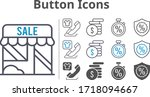 button icon set included shop ...