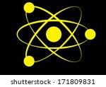 molecule icon  | Shutterstock . vector #171809831