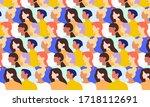 international womens day.... | Shutterstock .eps vector #1718112691