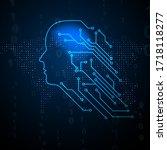 digital mind. artificial... | Shutterstock .eps vector #1718118277