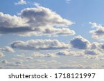 Clouds In The Blue Sky At...