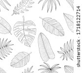 seamless pattern from a set of... | Shutterstock .eps vector #1718122714