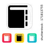 book with pointers icon. vector ...