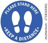 social distancing concept for... | Shutterstock .eps vector #1718165401
