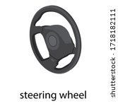 steering wheel icon. isometric...   Shutterstock .eps vector #1718182111