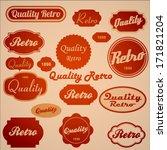 retro labels in red   Shutterstock .eps vector #171821204