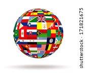 planet flags. 3d | Shutterstock . vector #171821675