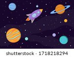 Space Background With Planets ...