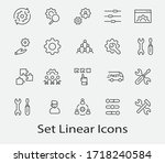 set of settings and setup... | Shutterstock .eps vector #1718240584