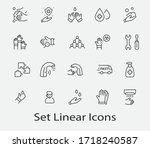 set of washing hands vector... | Shutterstock .eps vector #1718240587