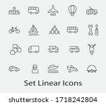 set of public transport related ... | Shutterstock .eps vector #1718242804