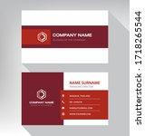 modern. vector business card... | Shutterstock .eps vector #1718265544