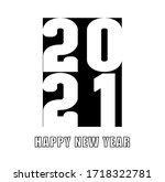 happy new year 2021 logo design.... | Shutterstock .eps vector #1718322781