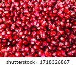Red Ripe Pomegranate On A...