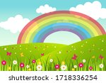 spring and summer background... | Shutterstock .eps vector #1718336254