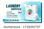 laundry service creative...   Shutterstock .eps vector #1718342737