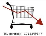 vector illustration of economic ... | Shutterstock .eps vector #1718349847