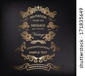 vintage frames with floral...   Shutterstock .eps vector #171835649