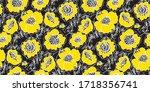 fun loose sketch peony flowers... | Shutterstock .eps vector #1718356741