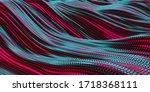 colorful liquid metallic wavy... | Shutterstock . vector #1718368111