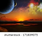 sci fi fantasy image of planets ... | Shutterstock . vector #171839075