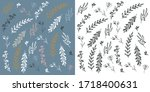 hand drawn pattern with...   Shutterstock .eps vector #1718400631
