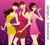 fashion girls | Shutterstock .eps vector #17184205