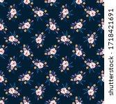 beautiful floral seamless... | Shutterstock .eps vector #1718421691