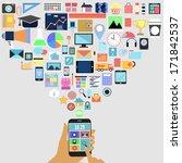 hand pressing  applications... | Shutterstock . vector #171842537