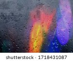 Colorful Blurred Light At Rain...