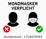 mondmasker verplicht  ...   Shutterstock .eps vector #1718478391