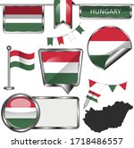 vector glossy icons of flag of... | Shutterstock .eps vector #1718486557