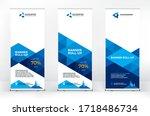 roll up design set  creative... | Shutterstock .eps vector #1718486734