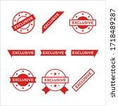 red vector banner ribbon... | Shutterstock .eps vector #1718489287