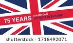 VE Day WW2 Anniversary 75th Logo