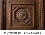 Carved Door Frame With Detailed ...
