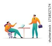 business concept leadership... | Shutterstock .eps vector #1718527174