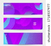 abstract vector wavy pattern... | Shutterstock .eps vector #1718537977