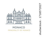 monaco city   principality of... | Shutterstock .eps vector #1718572027