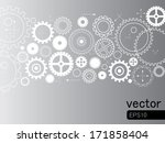 abstract vector   gears on grey ... | Shutterstock .eps vector #171858404
