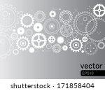 abstract vector   gears on grey ... | Shutterstock .eps vector #171858404